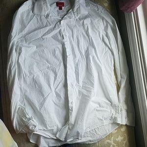Alfani slim fit stretch button down L dress shirt